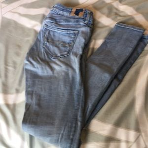 Abercrombie & Fitch Skinny Jeans with distressing.